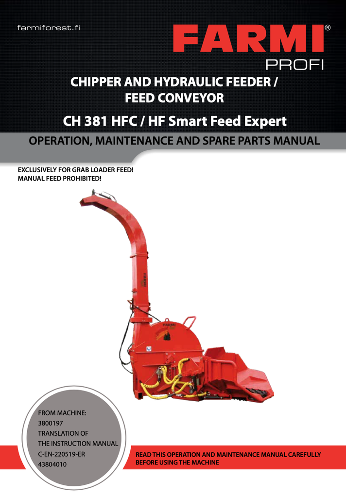 CH381 HFC/HF Manual and Spare Parts