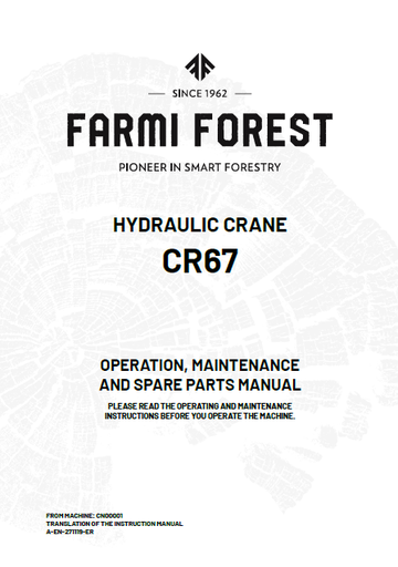 CR67 Manual and Spare Parts
