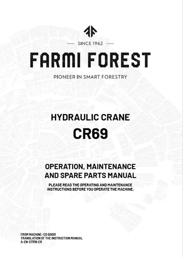 CR69 Manual and Spare Parts
