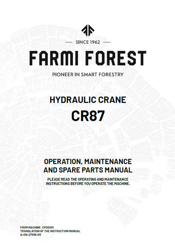 CR87 Manual and Spare Parts