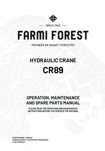 CR89 Manual and Spare Parts