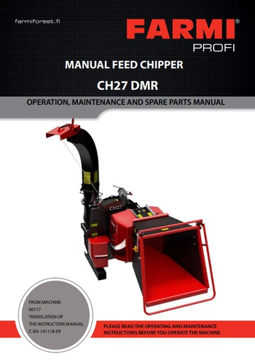 CH27DMR Manual and Spare Parts