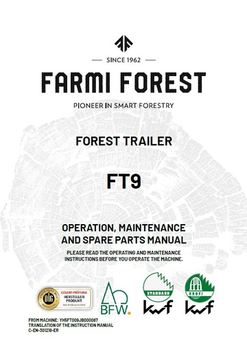 FT9 Manual and Spare Parts