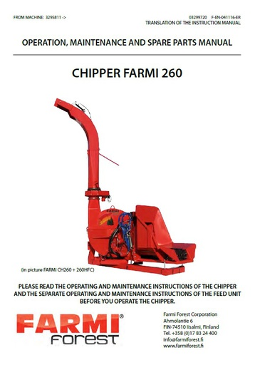 CH260 Manual and Spare Parts