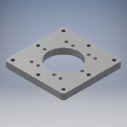 [43410992_1] FASTENING PLATE, 40X410X410MM, HK TS-F90, For Cranes